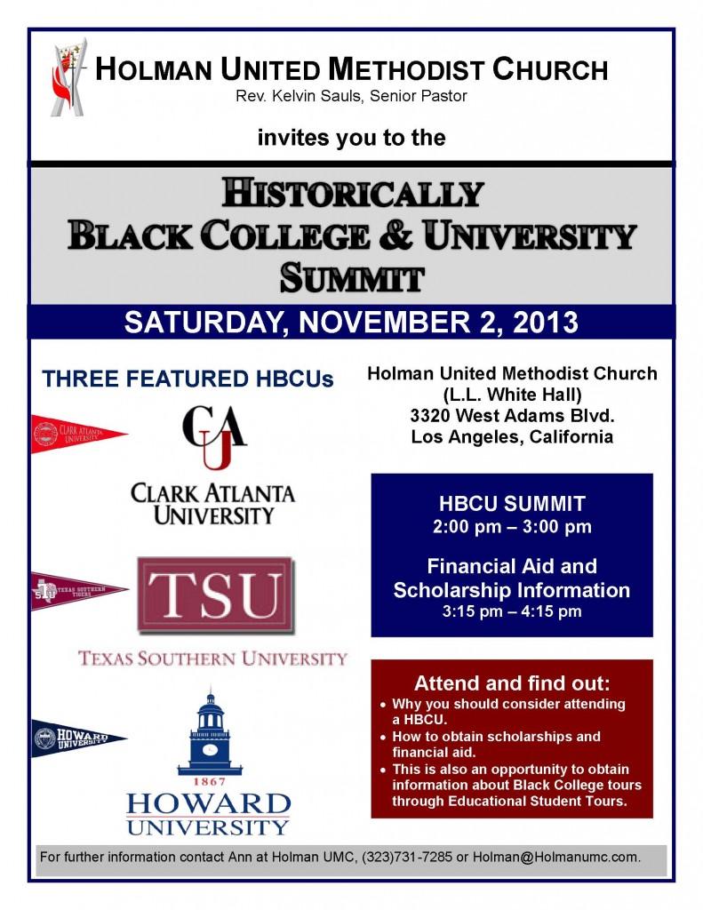 Black College Summit Nov  13 Final
