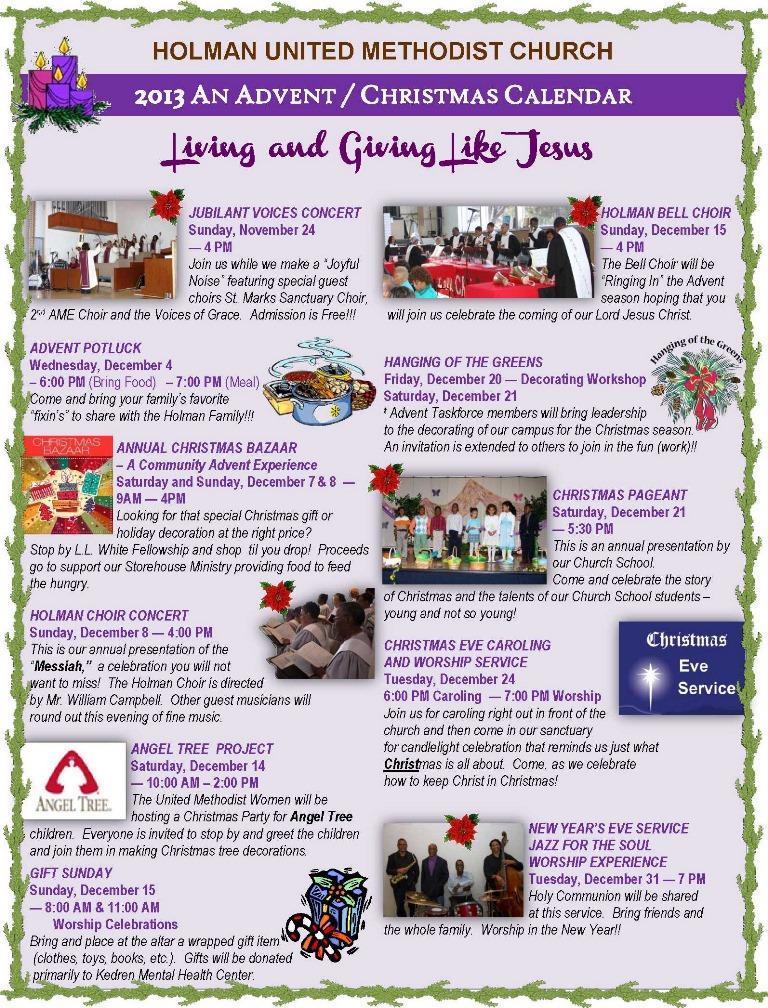 advent - 2013 calendar