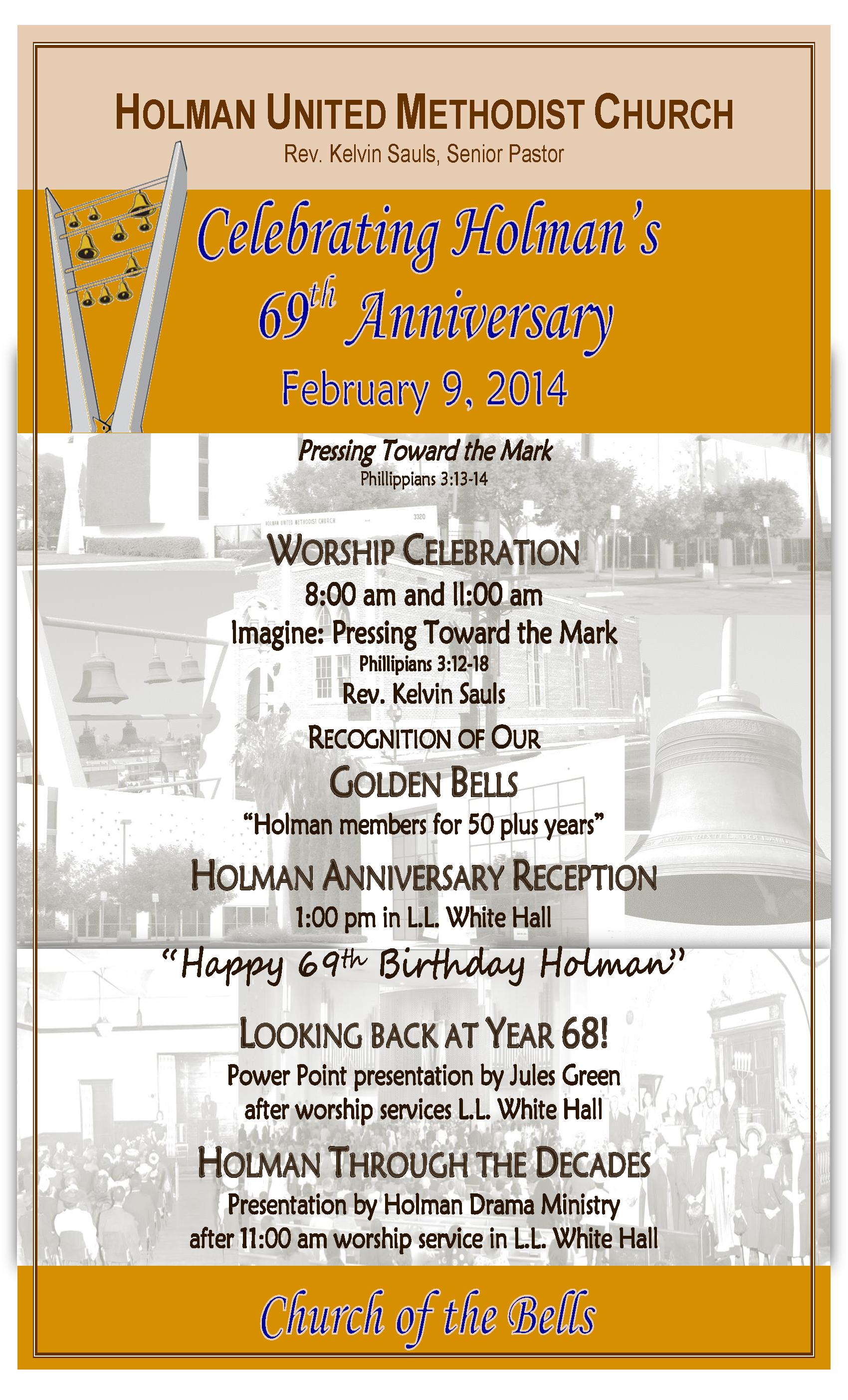 69th Church Anniversary Celebration Holman United