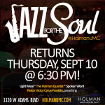 Jazz for the Soul - Square Flyer for social media and bulletin - 09-10-15