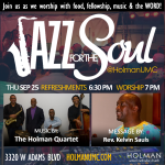 Jazz for the Soul - Square Flyer for social media and bulletin 9-25-2014