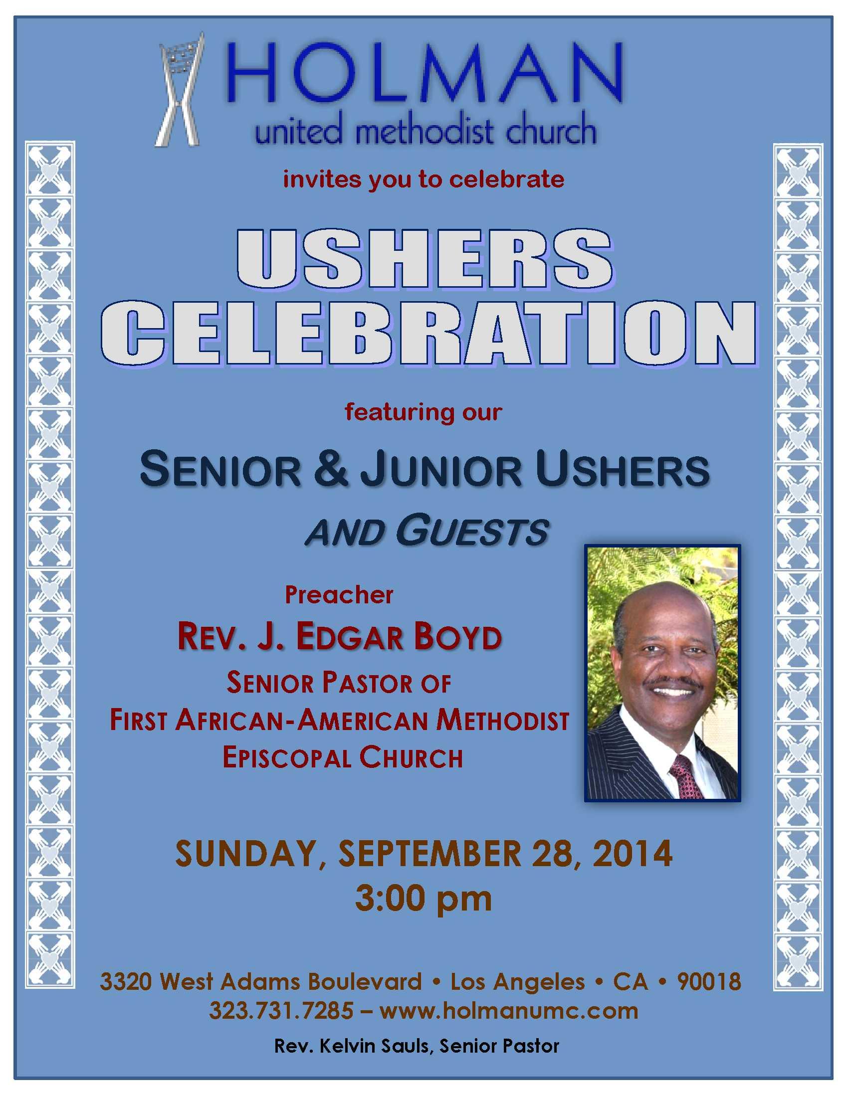 Church Programs For Usher S