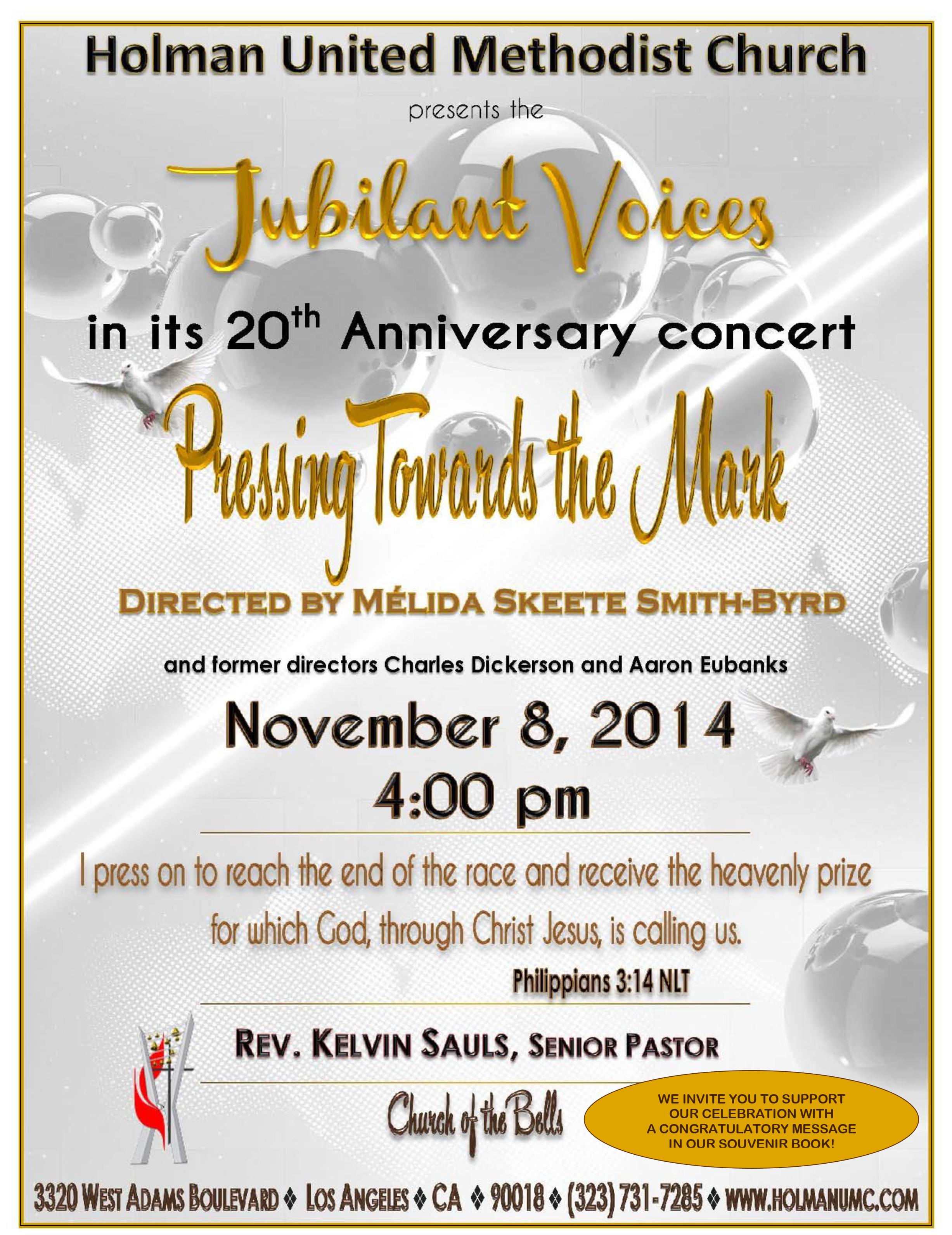 Jubilant voices concert flyer