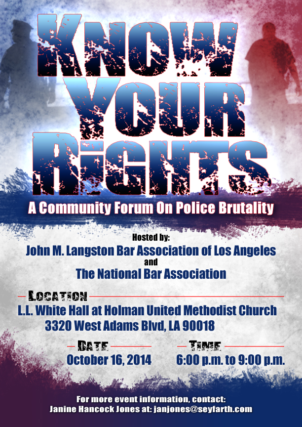 know your rights  u2013 a community forum on police brutality