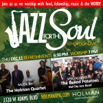 Jazz for the Soul - Square Flyer for social media and bulletin 12-11-2014