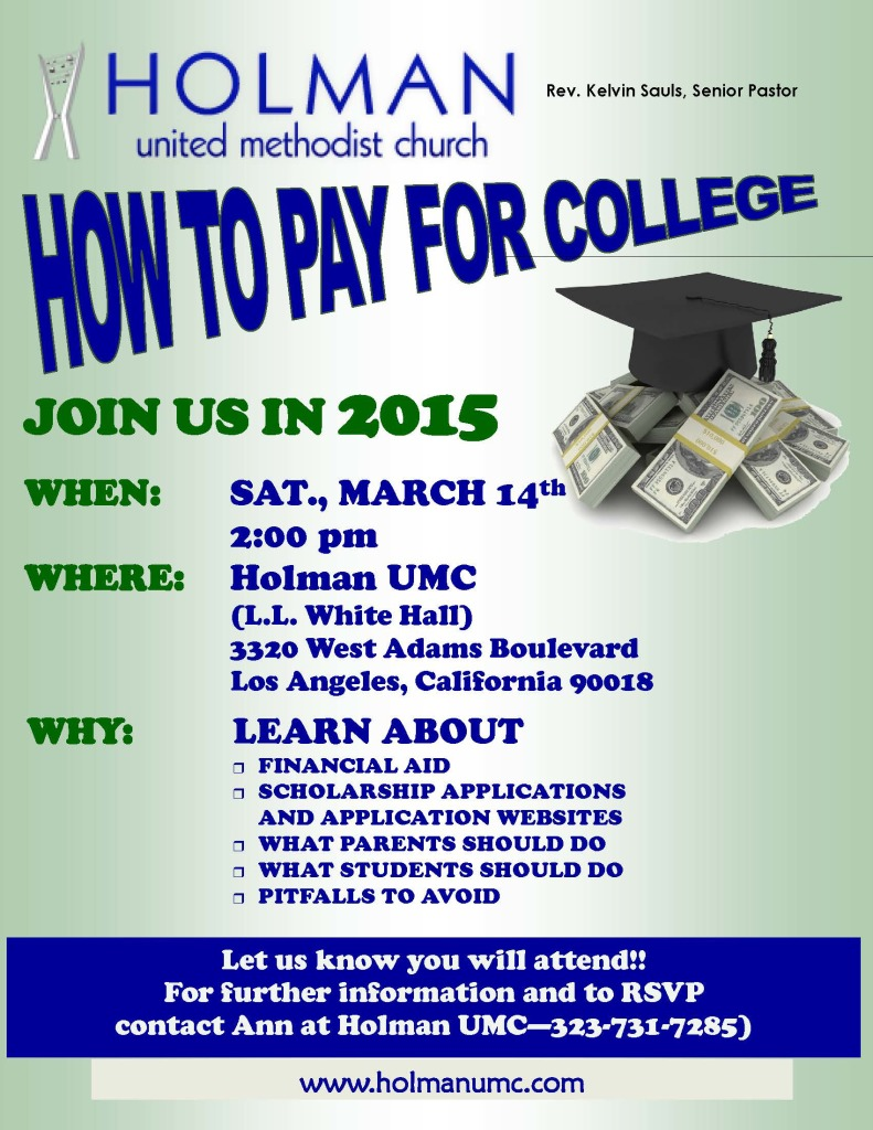 2015 - Flyer - How to Pay for College