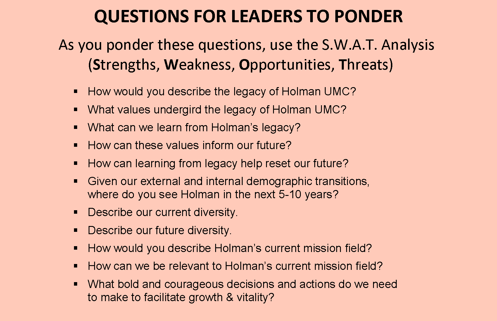 leadership questions The questions in a leadership questionnaire are designed to address the issues concerning the attributes and skills that a leader should have a leadership.