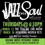Jazz for the Soul - Flyer for March 2015
