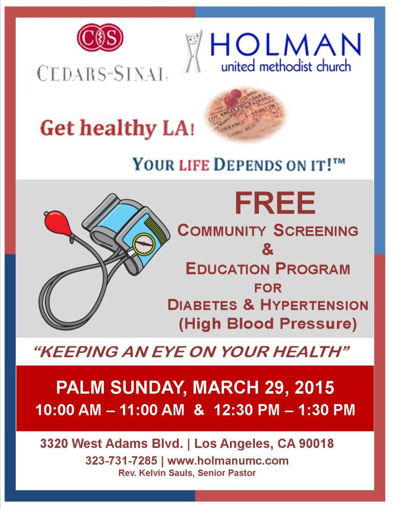 free health screening  u0026 education program