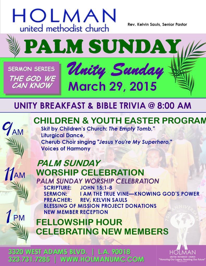 Unity - Palm Sunday - 2015-03-29