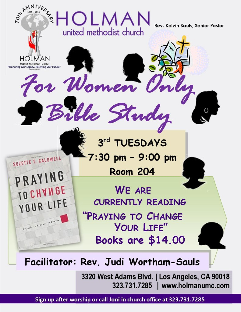 For Women Only Bible Study - Flyer - Book 2 - updated