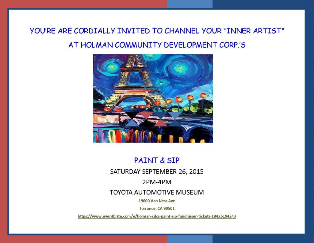 Holman Cdc Paint Amp Sip Fundraiser Holman United
