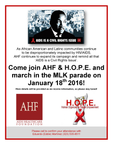 MLK Parade - Flyer