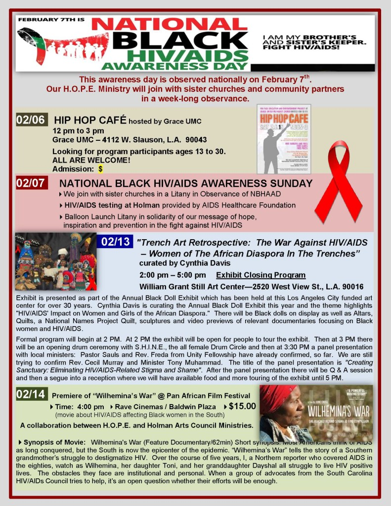 NBHAAD AWARENESS WEEK - 2016 - flyer