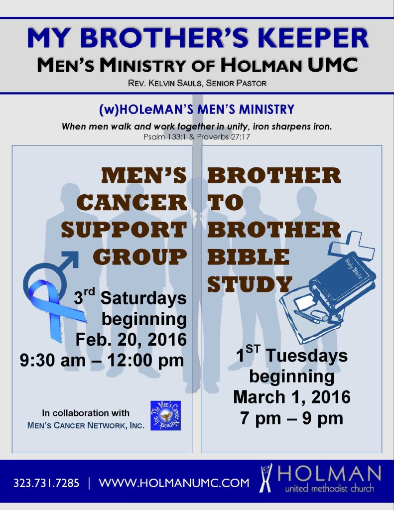 MEN'S MINISTRY - Brother to Brother Bible Study