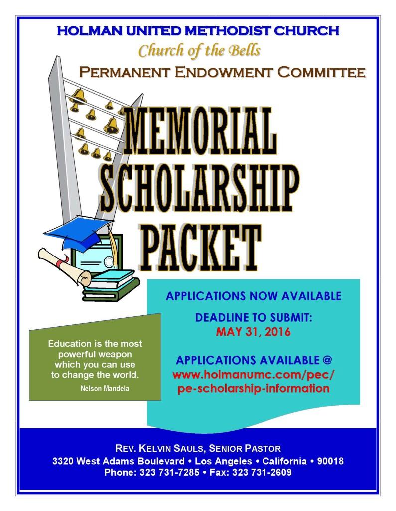 2016 - Scholarship - flyer