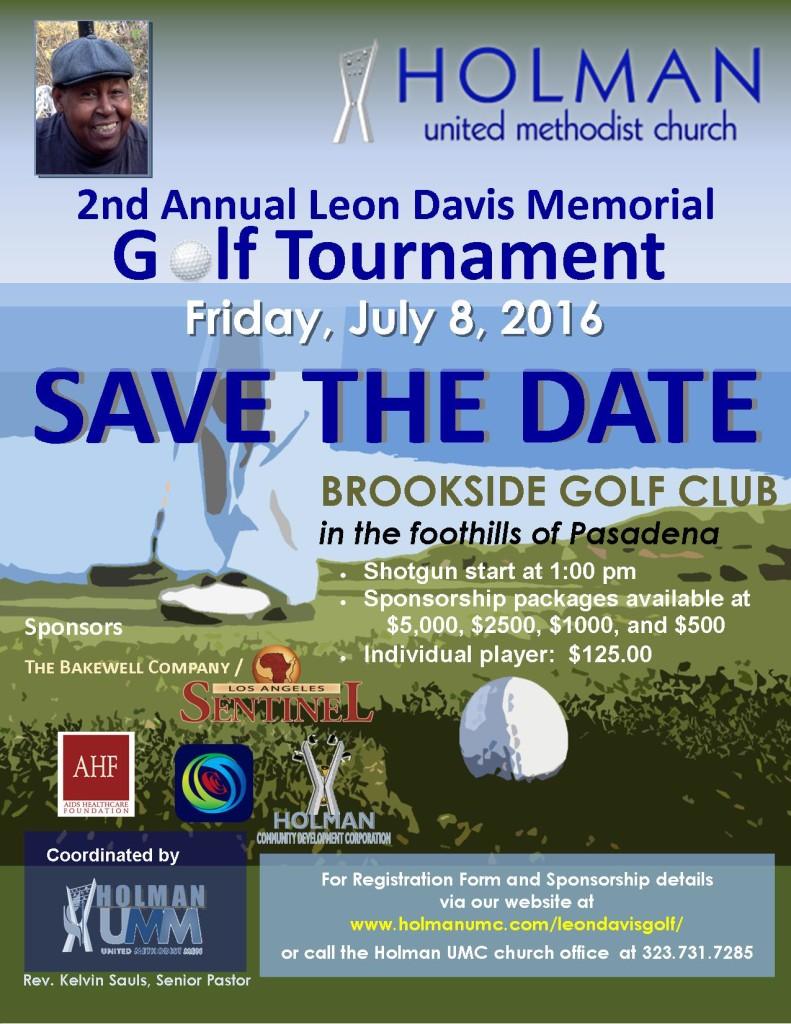 Leon Davis Memorial Golf Tournament - 2016 - Flyer