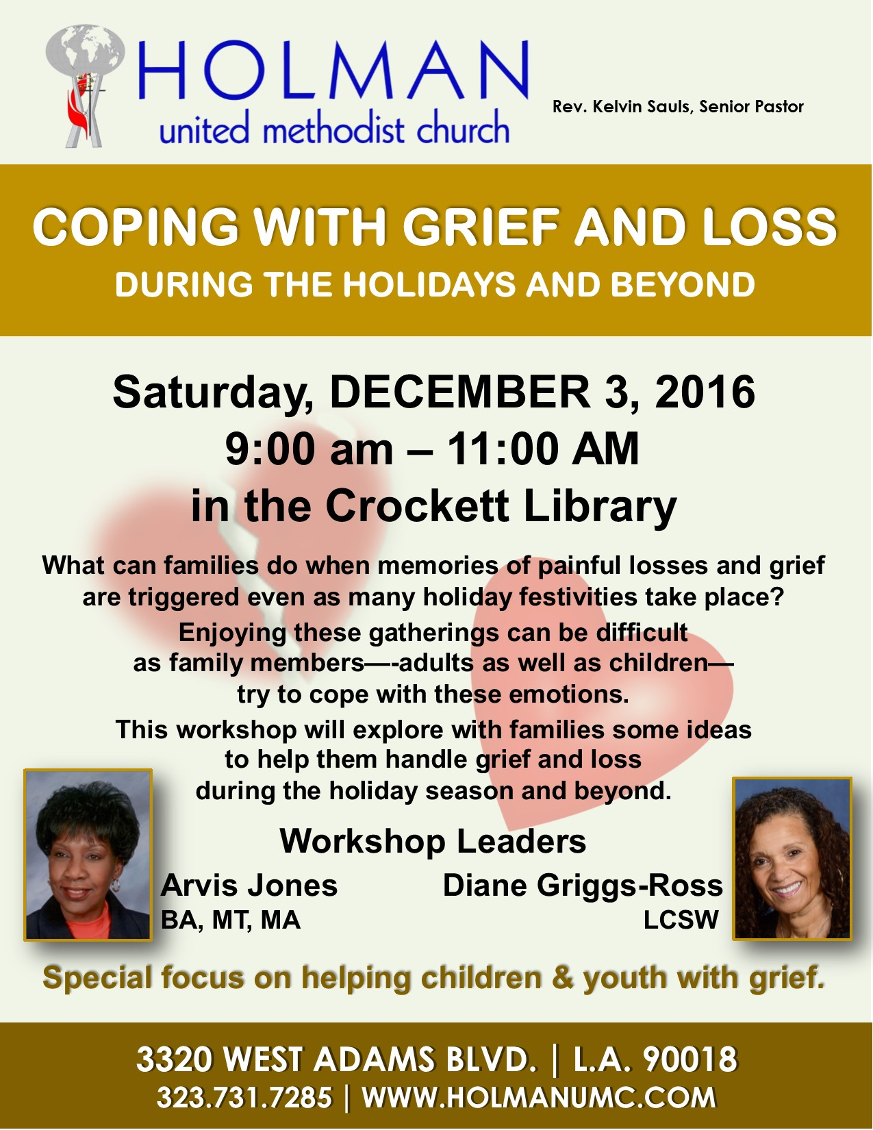 Coping With Grief And Loss Holman United Methodist Church