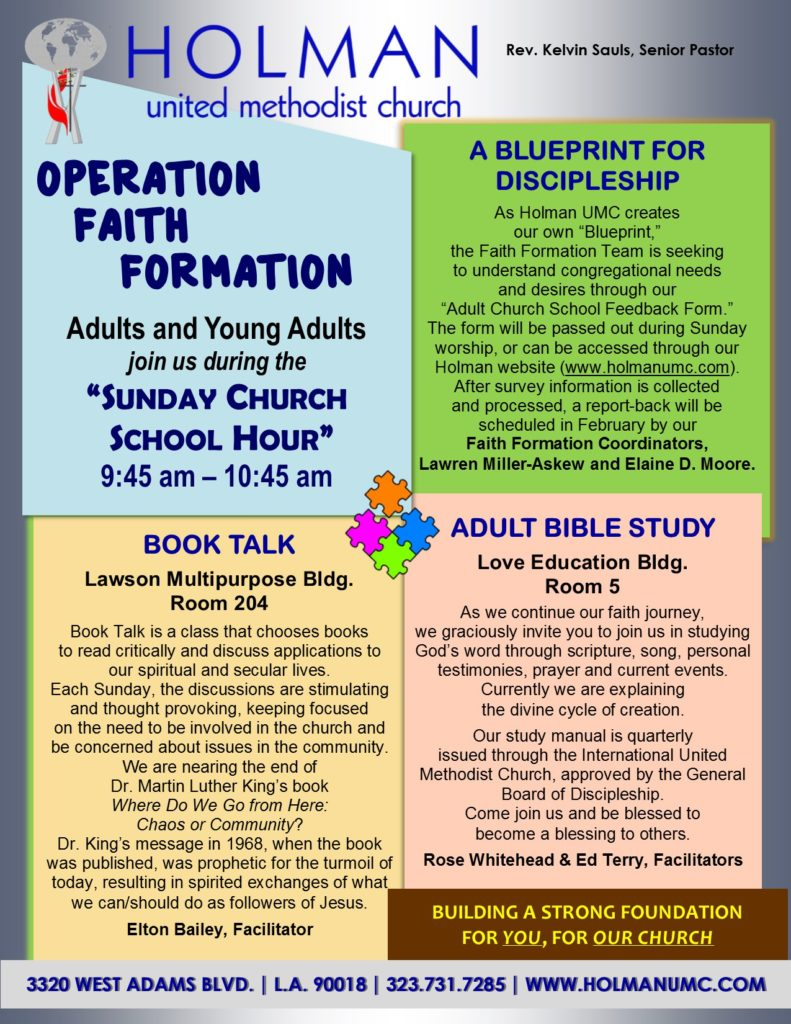 OPERATION FAITH FORMATION - Flyer - Adults