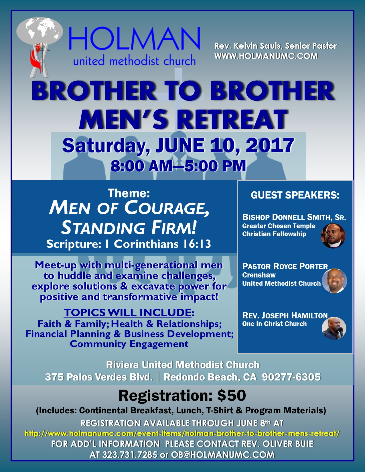 Holman Brother To Brother Men S Retreat Holman United