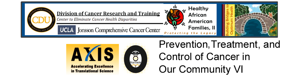 Prevention, Treatment and Control of Cancer in Our Community