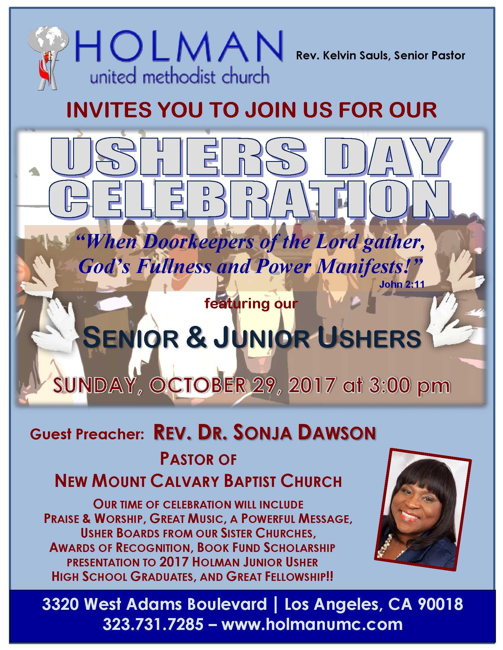 Usher Day Celebration Holman United Methodist Church