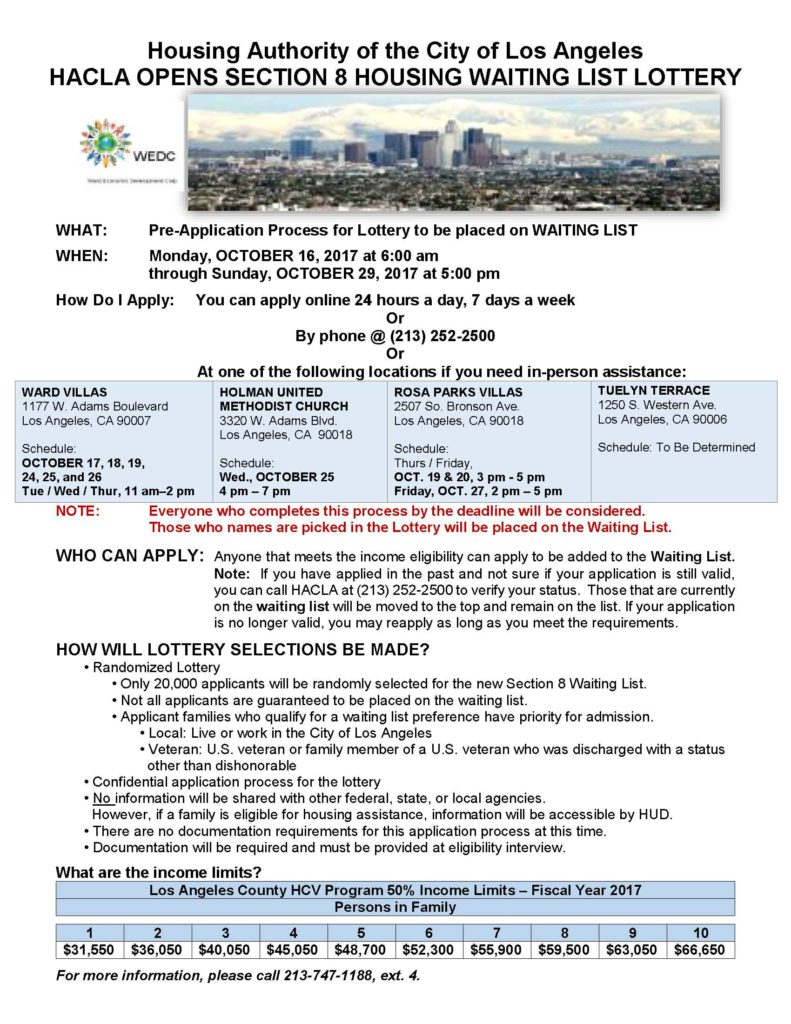 Apply Online for the Section 8 Waiting List Lottery ...