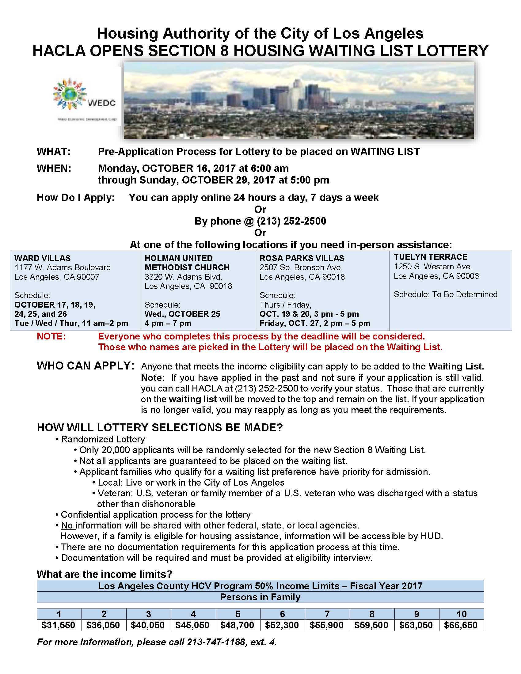 Apply Online for the Section 8 Waiting List Lottery – Holman