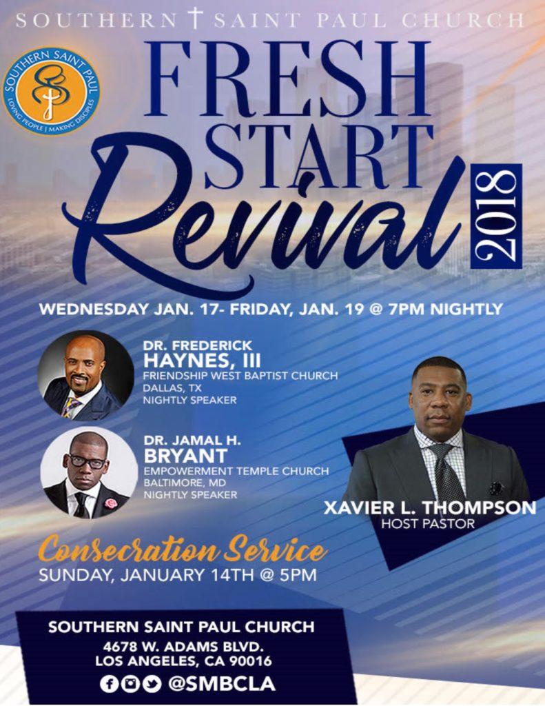 southern saint paul church fresh start revival 2018