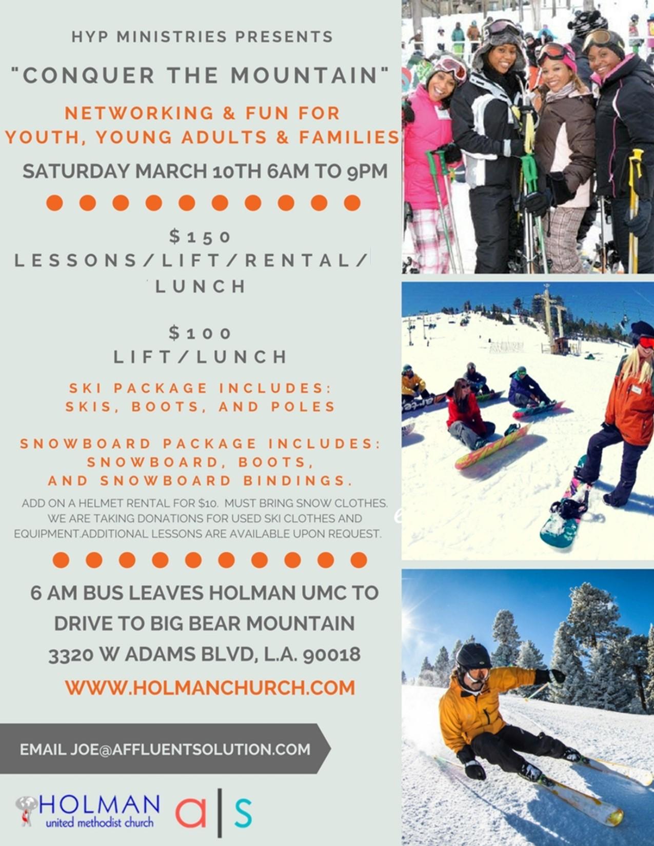 """HYP Ministries Ski Trip """"Conquer The Mountain"""" – Holman"""