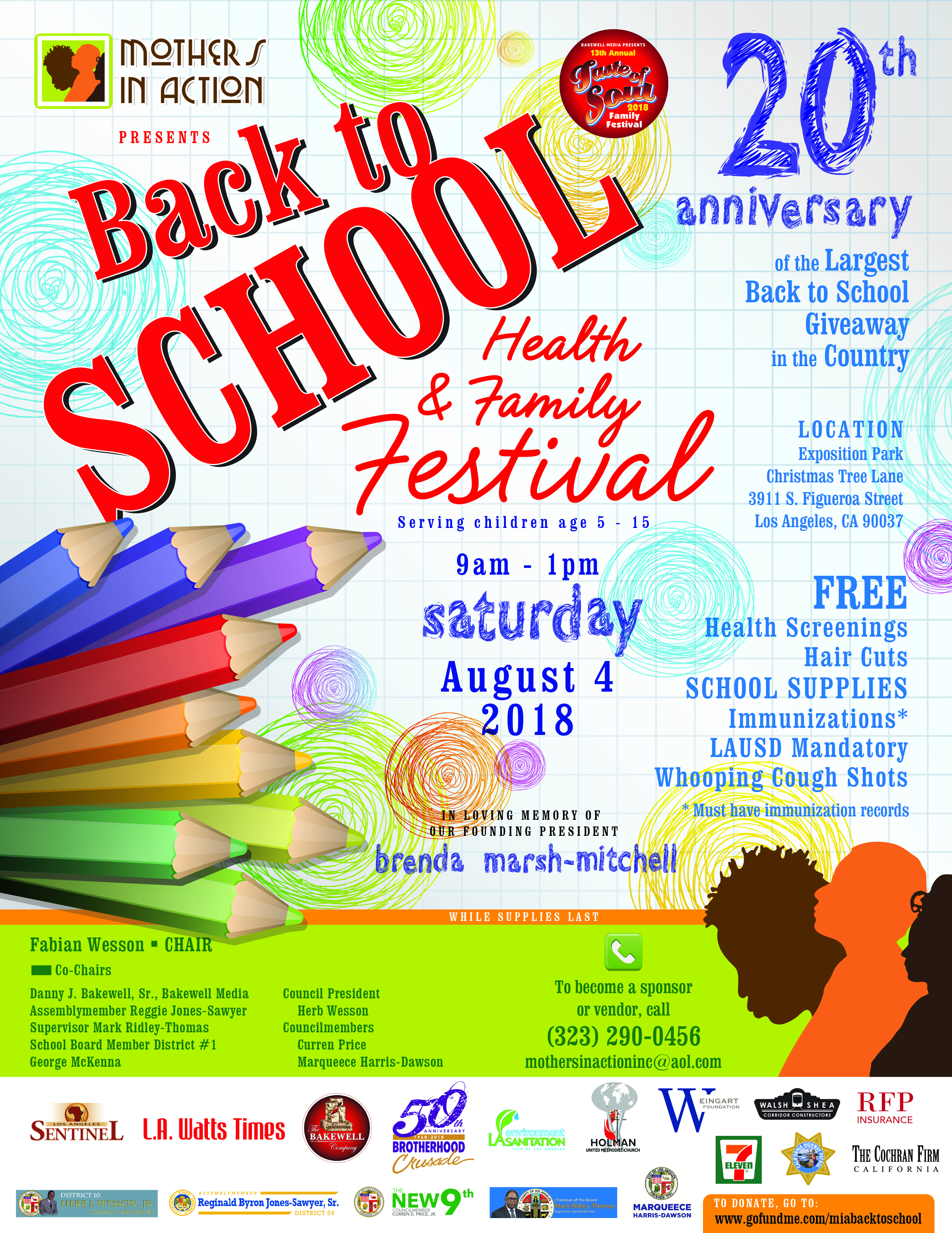 Mothers In Action Back to School Health & Family Festival