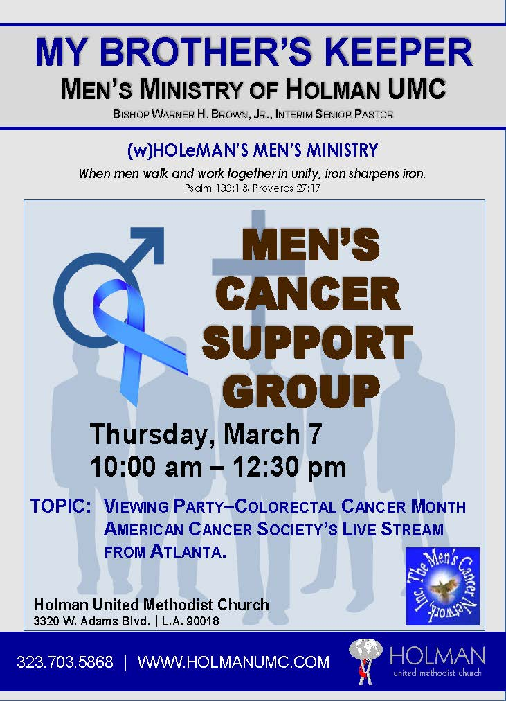 Men S Cancer Support Group Holman United Methodist Church